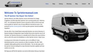 Sprinter Service Information