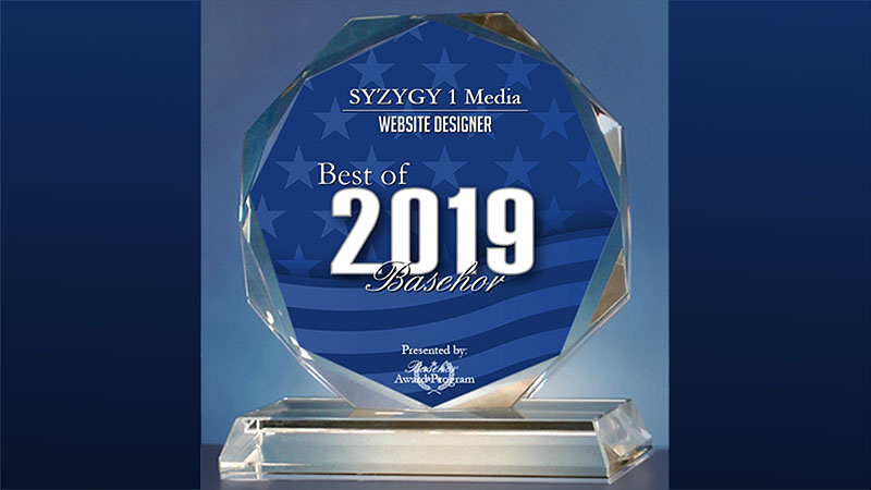 SYZYGY 1 Media - 2019 Best of Basehor - Website Designer - Crystal Award